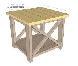 table plans small: plans to build a small end table simple woodworking plan