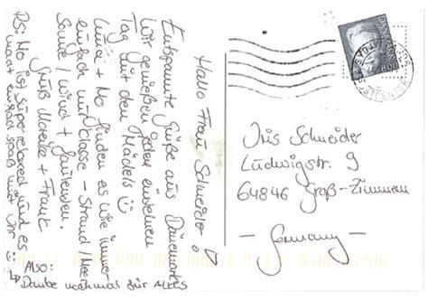 Postkarten Schreiben Muster Postkarte Kunde Jpg