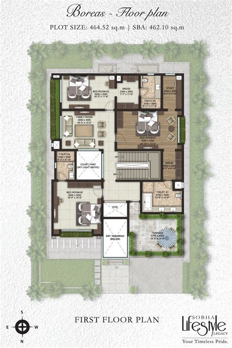 villa plan sobha lifestyle legacy 4 bedroom villas bangalore