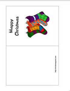 Christmas Greeting Card Templates Free Free Printable Holiday Greeting Card With Stockings