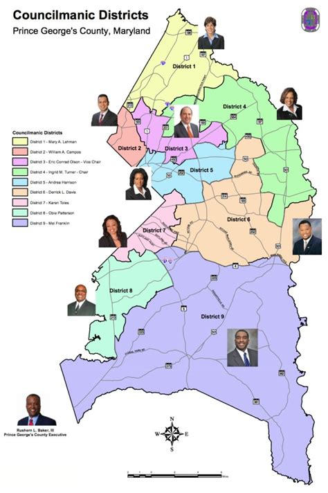 Search Pg County Md County Council District Maps Seventh State