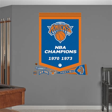 chionship banner template new york knicks nba chions banner wall decal shop
