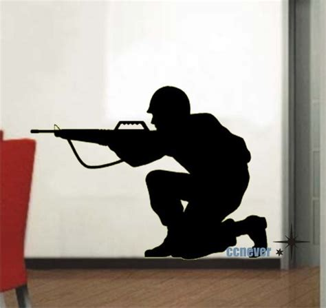soldier wall stickers soldier army removable graphic wall