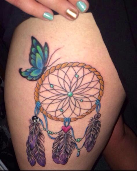 tattoo tracing paper walmart my thigh piece dream catcher butterfly tattoo my own