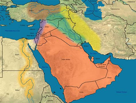 middle east map features the geography of the middle east geoff emberling