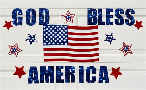 god bless america magnetic sign decoration door