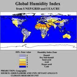 humidity map ialc arid lands of the world