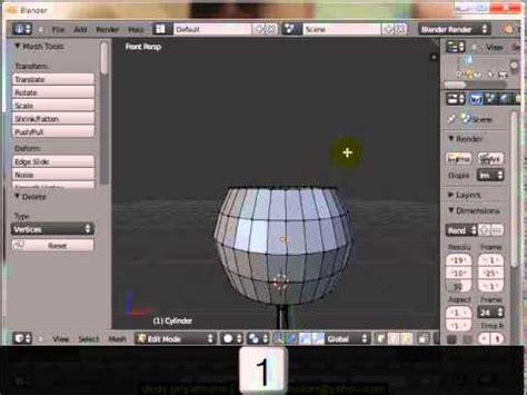tutorial blender membuat gelas membuat gelas dgn blender 2 62 youtube