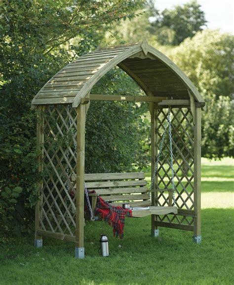 garden arbour swing seat wooden garden swing seat arbour garden pinterest