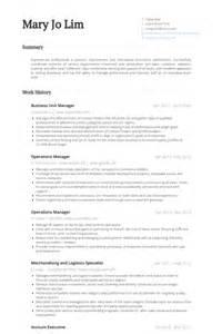 Business Unit Leader Sle Resume by Directeur De L Unit 233 D Affaires Exemple De Cv Base De Donn 233 Es Des Cv De Visualcv