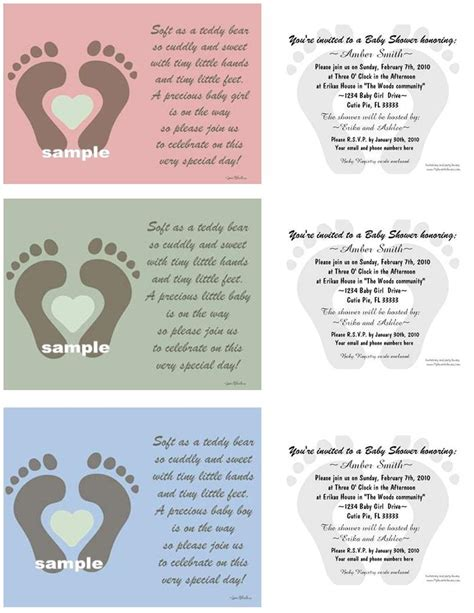 Poems For Baby Shower Gifts by Baby Shower Invitations My Favorite Favors Gifts