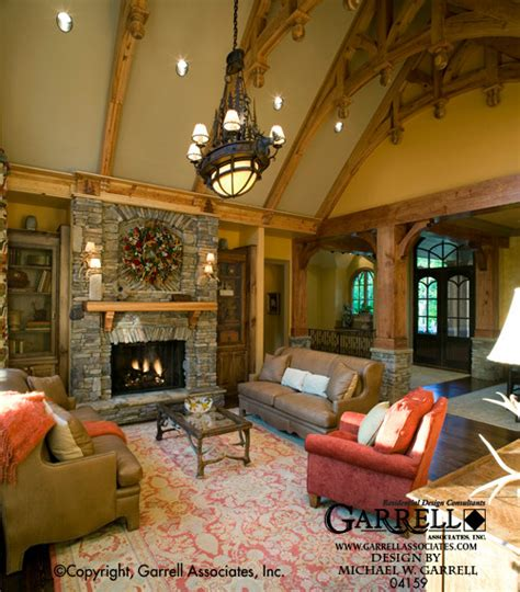 Home Interior Inc by The Tranquility House Plan 04159 Lodge Room Craftsman