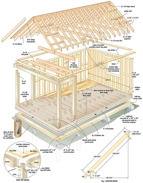 cabin building plans cool cabin plans