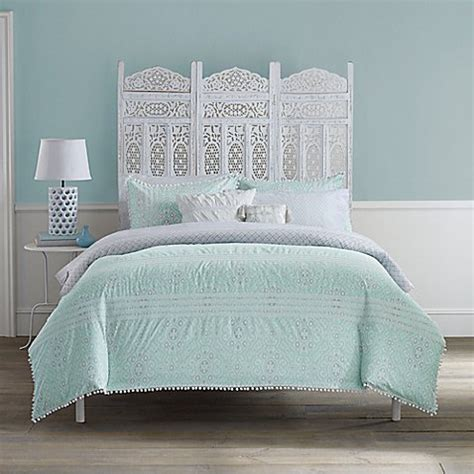 mint green bedding anthology moroccan party comforter set in mint green white bed bath beyond