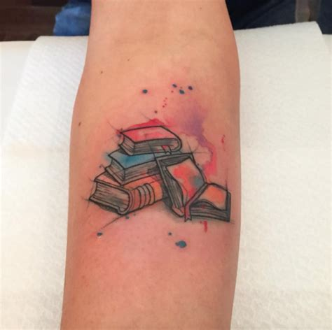 tattoos of books 40 amazing book tattoos for literary watercolour