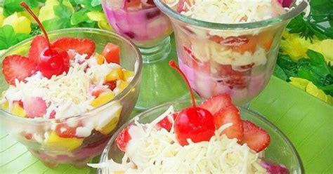 membuat salad buah yg enak resep salad buah yogurt keju oleh aktri nurfaa cookpad