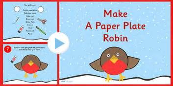 How To Make A Phlet Out Of Paper - how to make a paper plate robin activity powerpoint robin