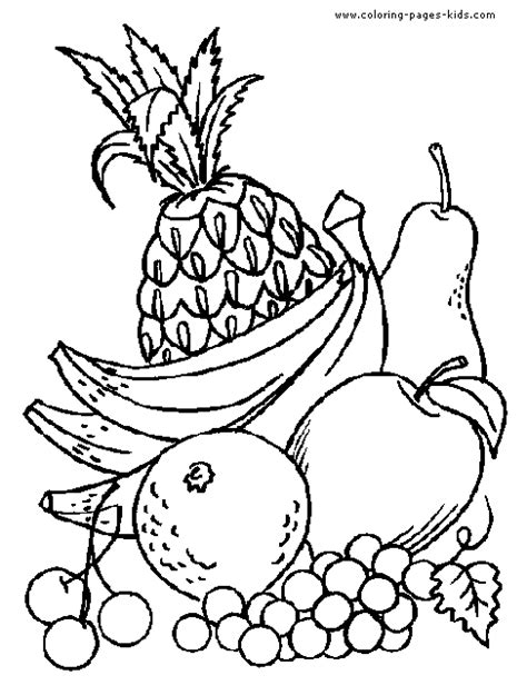 free coloring pages of fruits