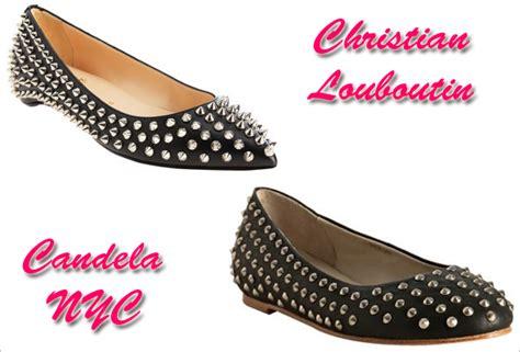 Christian Stud Balerina Shoes shoe wars christian louboutin vs candela spike studded