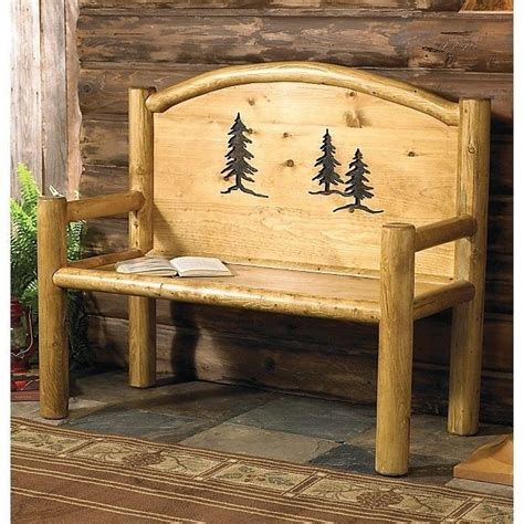 log cabin living room furniture rustic bench country western cabin log wood living room