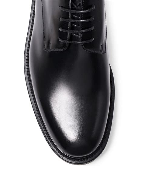 dries noten black crepe sole leather derby shoes in black for lyst