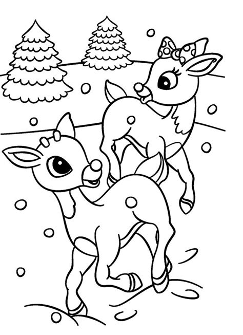 coloring pages deer rudolf rudolph reindeer coloring pages christmas baby rudolph