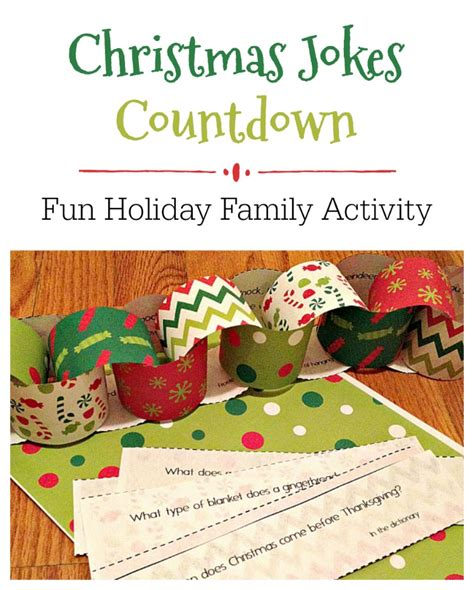 christmas garland puns jokes countdown free printable