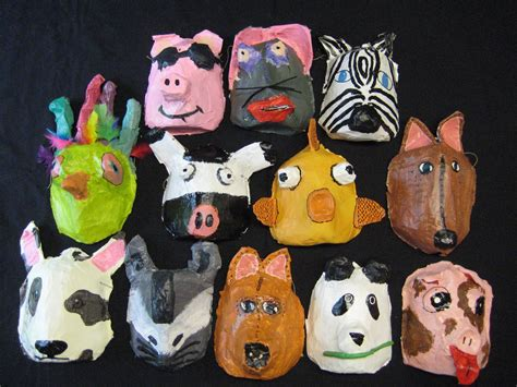 Masks With Paper Mache - paper mache pained mask masks