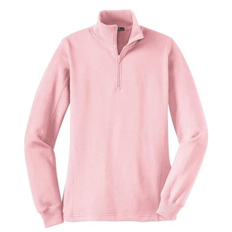 sport tek lst253 1 4 zip sweatshirt pink fullsource
