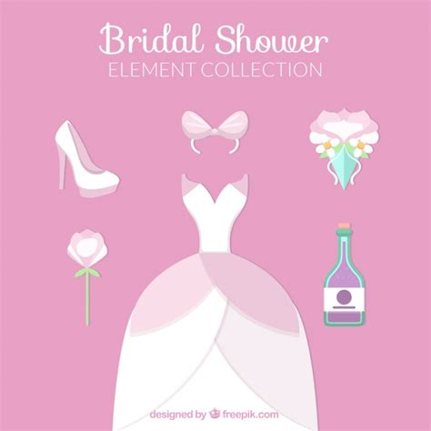 Wedding Ceremony Elements by Collection Of Wedding Dress And Ceremony Elements Vector