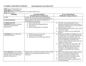 department business plan template career services department plan template assessmnet