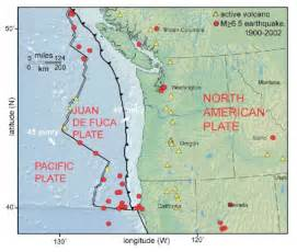 oregon fault lines map the cascadia subduction zone