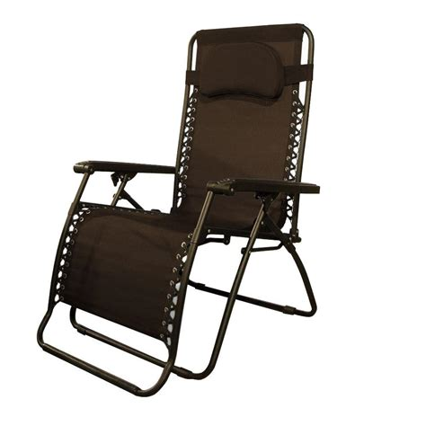 Zero Gravity Patio Chair Caravan Sports Infinity Oversize Brown Zero Gravity Patio Chair 80009000161 The Home Depot