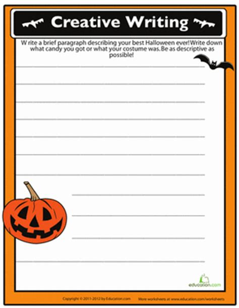 halloween writing themes halloween story starters worksheets teaching ideas and
