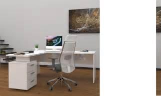 ensemble bureau d angle moderne blanc laqu 233 wanda