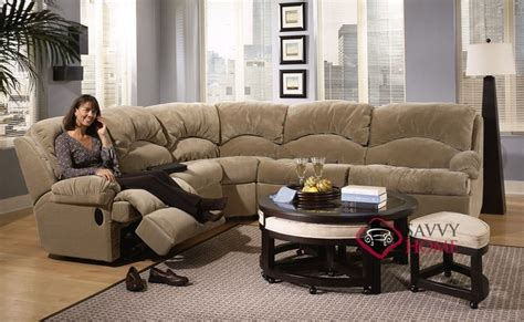 Sectional Sofa With Sleeper And Recliner Milan Fabric True Sectional By Savvy Is Fully Customizable By You Savvyhomestore