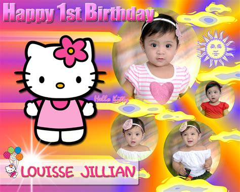 online layout for tarpaulin louisse jillian 1st birthday hello kitty cebu balloons