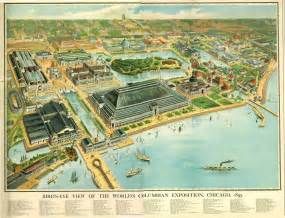 Aerial Map Of Chicago by Map Chicago Columbian Exposition World S Fair Aerial