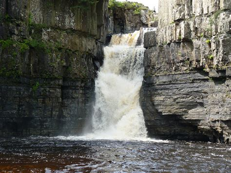 high force waterfall on the river tees photo walking britain high force waterfall is on the river tees near middleton i