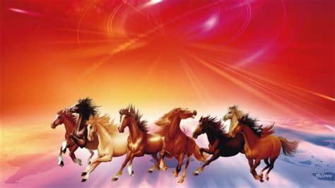 firefox horse themes seven running horses horses animals background