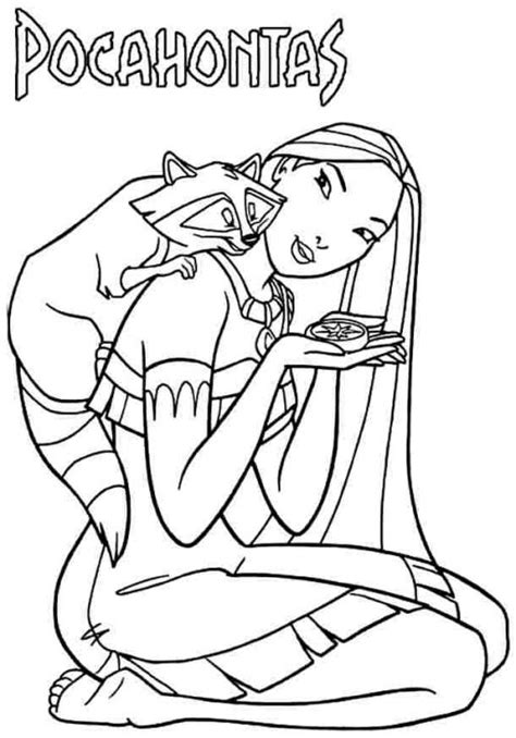 Collection of Disney Coloring Pages Pocahontas | Free Printable ...