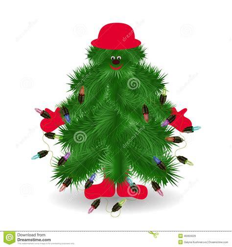 lustiger weihnachtsbaum vektor abbildung bild 46464029