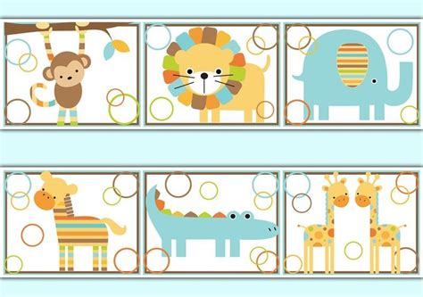 Jungle Animal Wall Stickers jungle wallpaper border wall decals baby boy safari animal