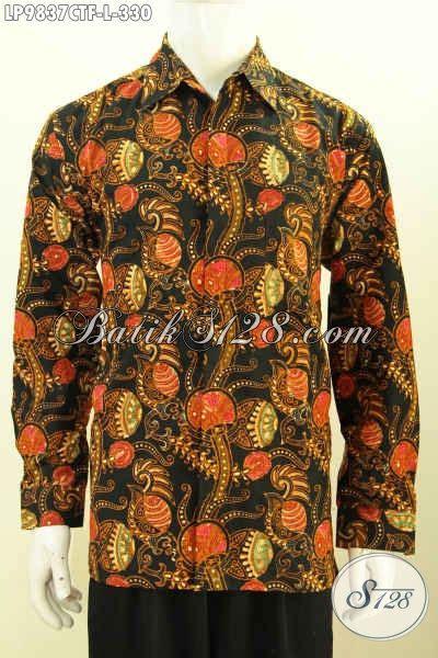 Kameja Batik Premium batik hem terbaru kemeja batik kwalitas premium daleman pakai furing lengan panjang bahan