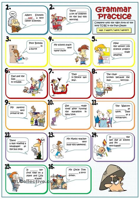 teach children esl free esl resources for those who was were wasnt werent esl worksheet of the day by