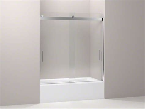 Kohler Glass Shower Doors Kohler Levity R Front Sliding Glass Panel For Shower Door K 706003 Contemporary Showers