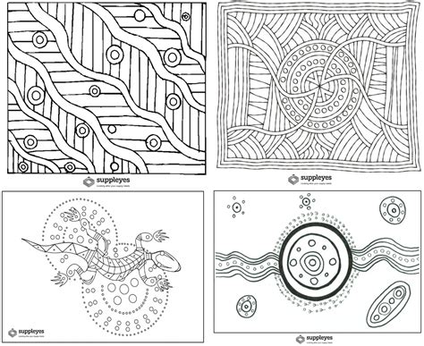 aboriginal patterns coloring pages teacher resources suppleyes childcare industry