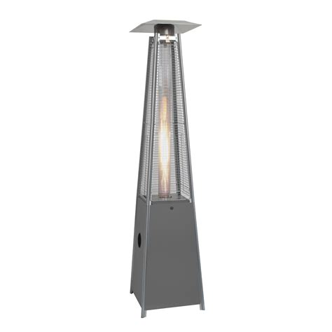 outdoor pyramid gas patio heater silver 2 27mtr