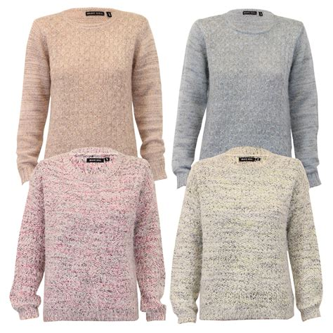 Knitted Jumper mohair jumper brave soul womens knitted sweater crew neck top winter new ebay