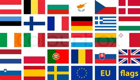 flags of the world european union vector set of flags of european union stock vector